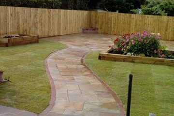Ornamental Garden Path.