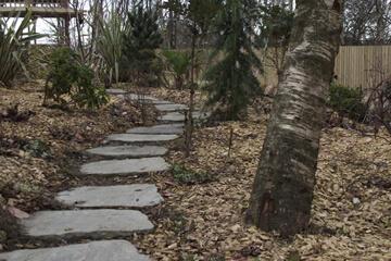Path Using Individual Natural Stone Steps.