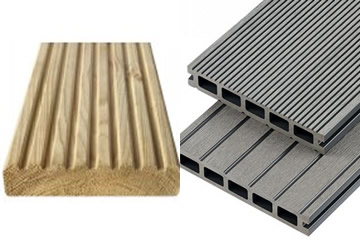 Natural Wood or Composite Decking built by Landscape Zoolutions.